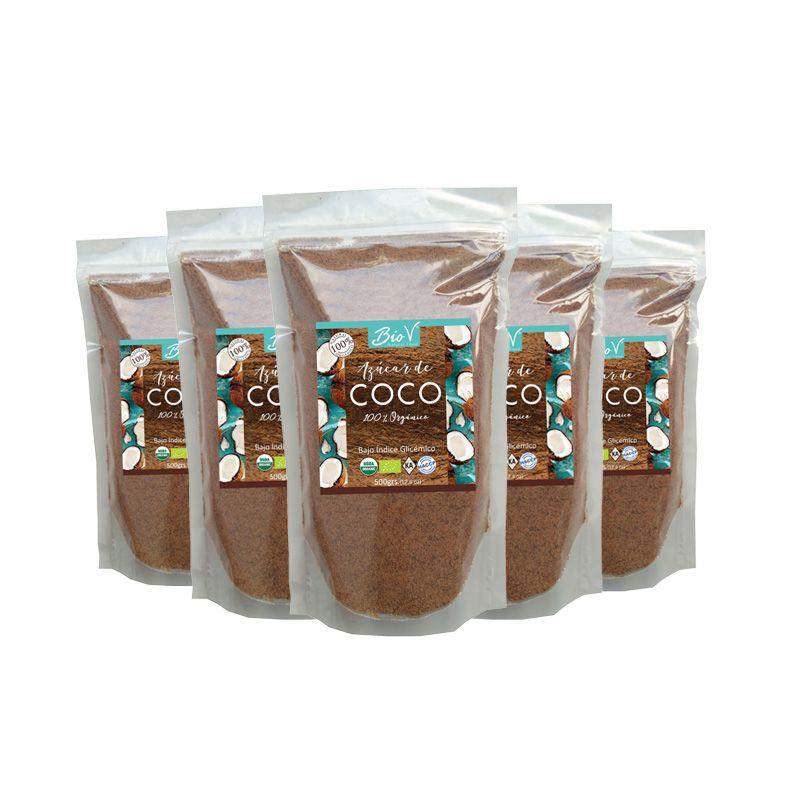 Azúcar de Coco Organica 500Gr- 5 Unidades Biov