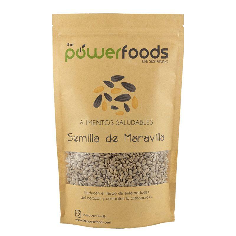Semilla de Maravilla Natural Pelada 500 Gr - Power Foods
