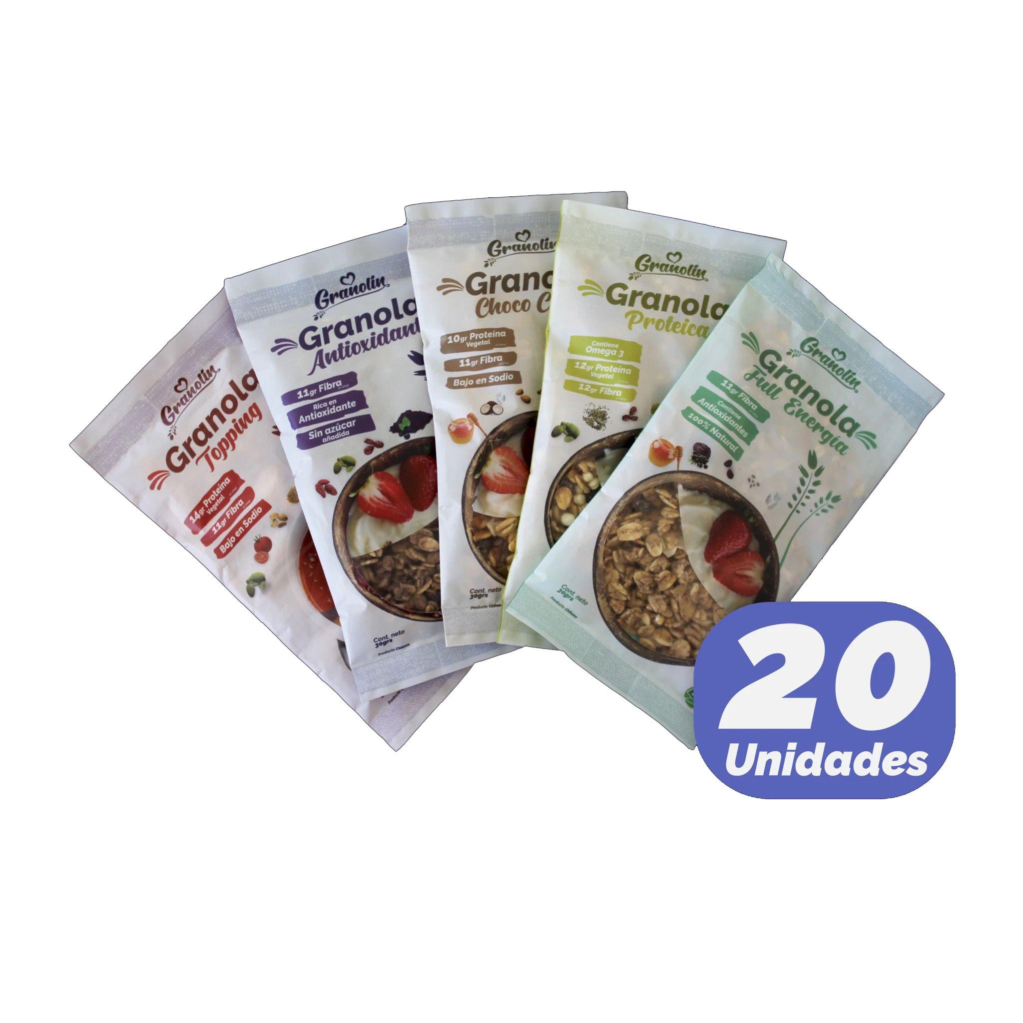 Granola Snack 30 Gr 20 Unidades
