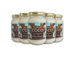Aceite de Coco Extra Virgen 100% Orgánico 500Gr – 5 Unidades BioV