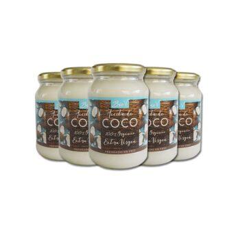 Aceite de Coco Extra Virgen 100% Organico 500Gr - 5 Unidades BioV