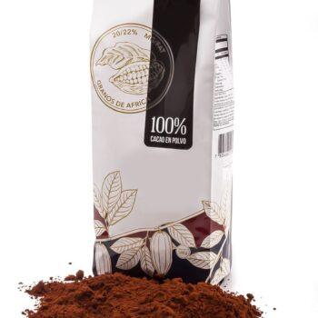 Cacao en Polvo 500 Gr, 100% Cacao Granos de África